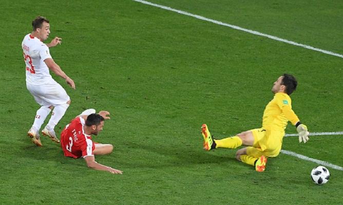 Last gasp Shaqiri seals Swiss 2-1 win over Serbia