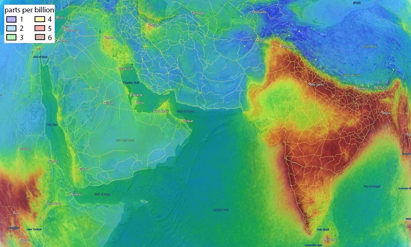 Why India's air looks different from space