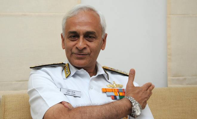 Indian Navy chief in city