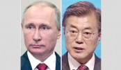 Putin, Moon agree to work together to settle Korea crisis