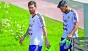 Messi, Argentina train with renewed hope