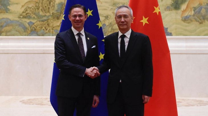 EU, China vow to uphold global trade order despite divisions