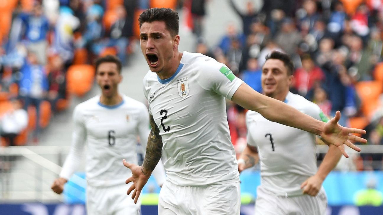 Uruguay defender Gimenez out against Russia with thigh injury