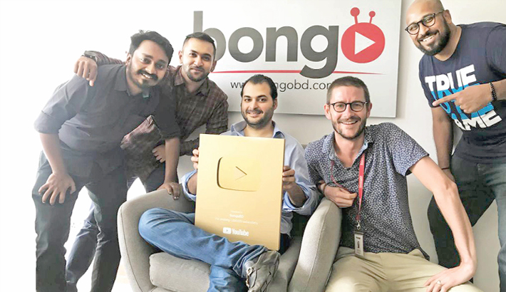 Bongo gets YouTube golden play button