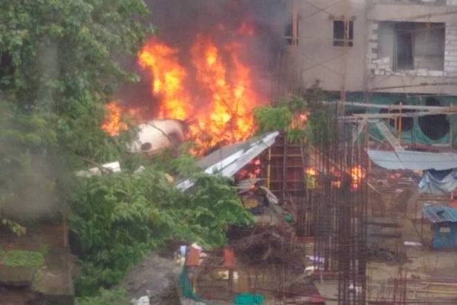 Chartered plane crashes in Mumbai; 5 people feared dead (Video)