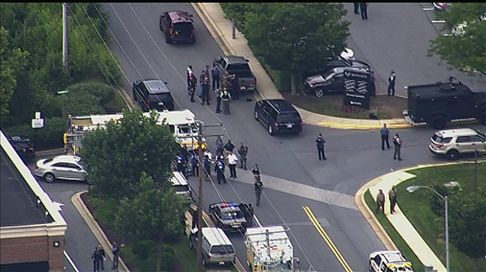At least five dead in US newsroom shooting