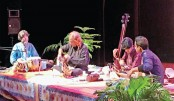 Sarod recital evening held at Shilpakala Academy