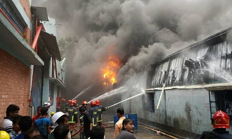 Two injured in Gazipur factory fire