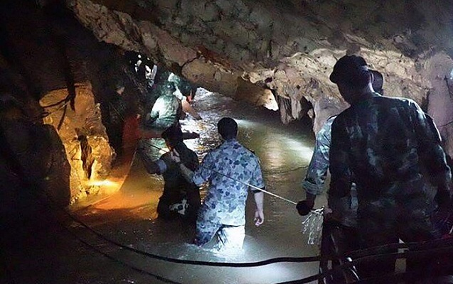 Thai boys trapped in cave found alive after nine days