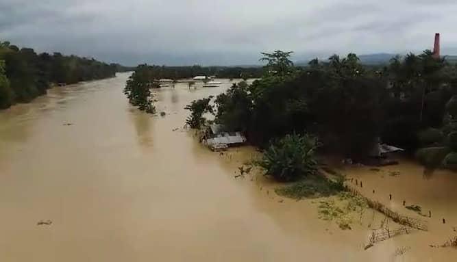 Heavy rain inundates low-lying areas in Rangamati