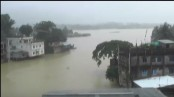 Heavy rain inundates low-lying areas in Rangamati