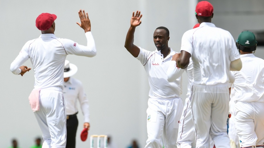 Bangladesh 43, West Indies 201/2 at stumps, Day One