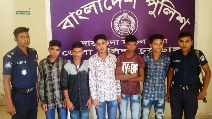 Five Rohingya youths held on Chuadanga border