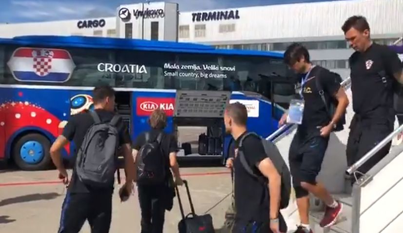 Croatia lands in Moscow ahead of World Cup showdown with England