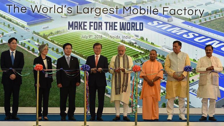 Samsung opens world's biggest smartphone factory