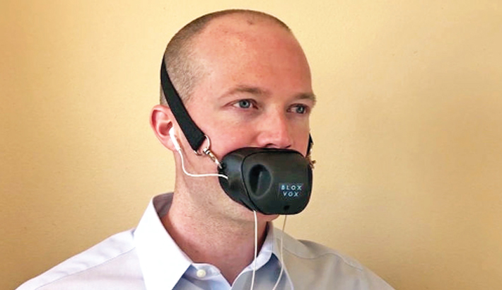 Mask for private phone calls