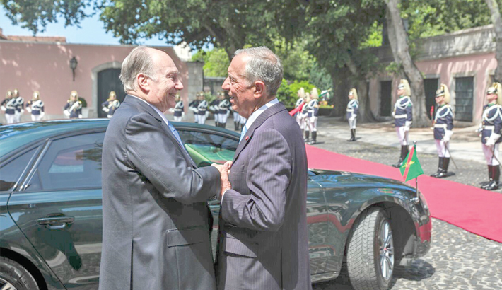 Aga Khan meets Portugal president