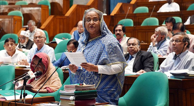 Khaleda in jail for corruption, says PM