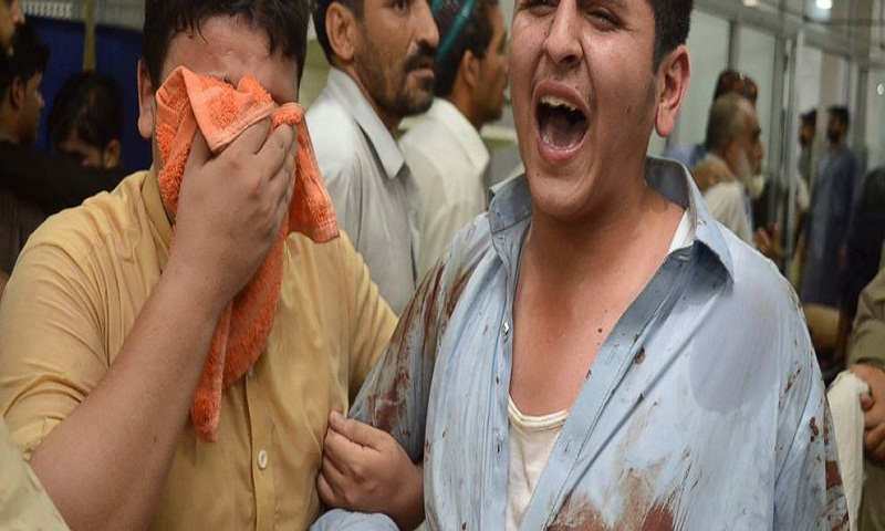 Pakistani Taliban claim bombing at rally that killed 21