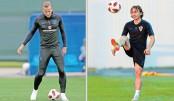 England, Croatia face off tonight for final