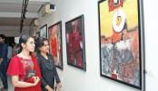 Painting exhibition Ruposhi Bangla underway at AFD