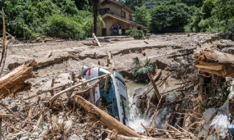 Japan flood: At least 179 dead after worst weather in decades