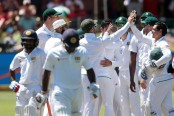 Sri Lanka 93-2 at lunch, 1st day of 1st test vs South Africa
