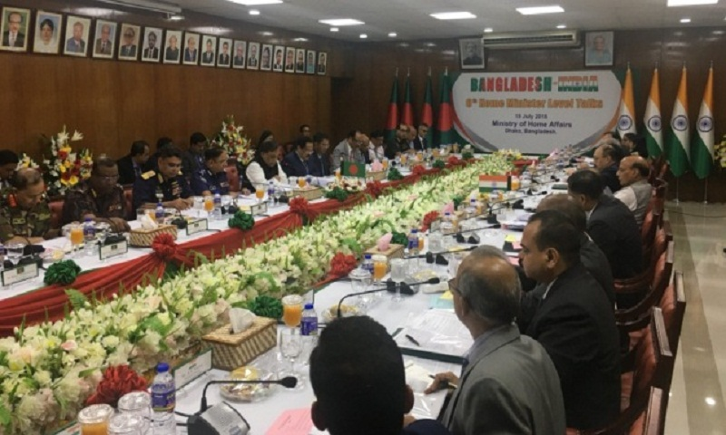 Dhaka, Delhi home minister-level talks held in city