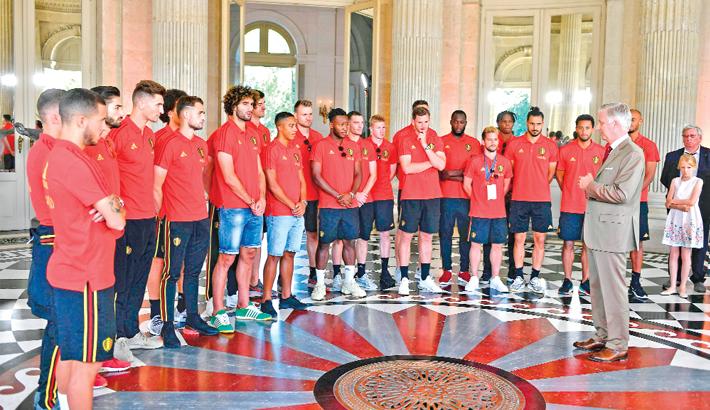 Belgium footballers reception ceremony