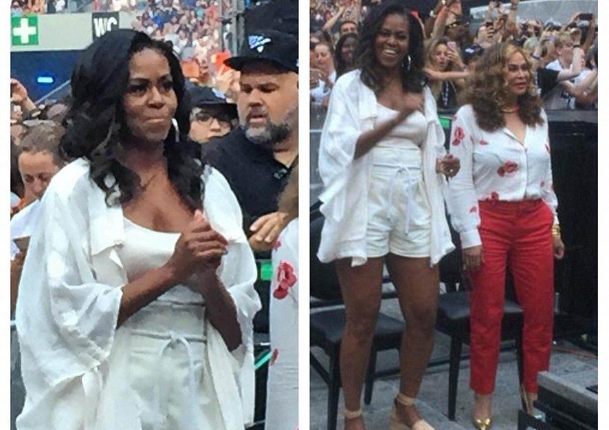 Michelle Obama dances at Beyonce and Jay-Z's Paris concert