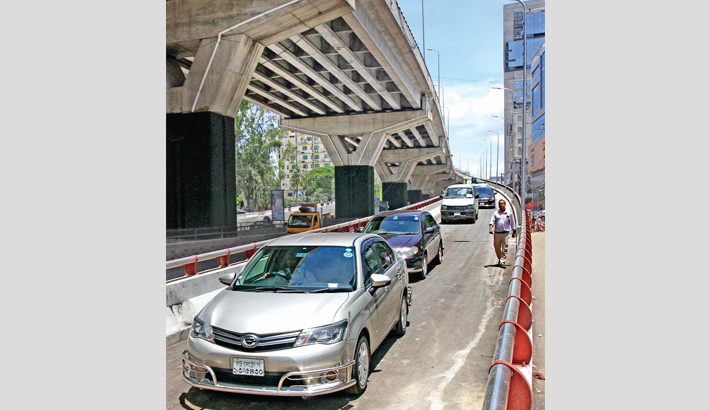 A new ramp of Akhtaruzzaman Flyover opens