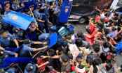 Philippine police disperse group protesting US, China