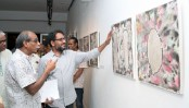 Khokon's painting exhibition begins at AFD