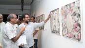 Khokon's painting exhibition begins at AFD