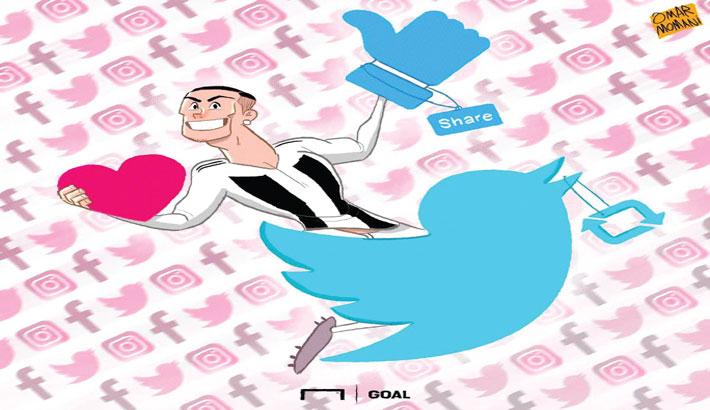 Ronaldo Reigns Social Media
