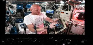 German astronaut performs with Kraftwerk from space