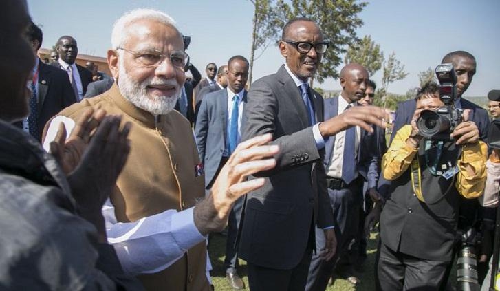 India's Modi arrives in Uganda in trip focusing on trade
