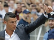 Ronaldo takes part in 1st training session with Juventus