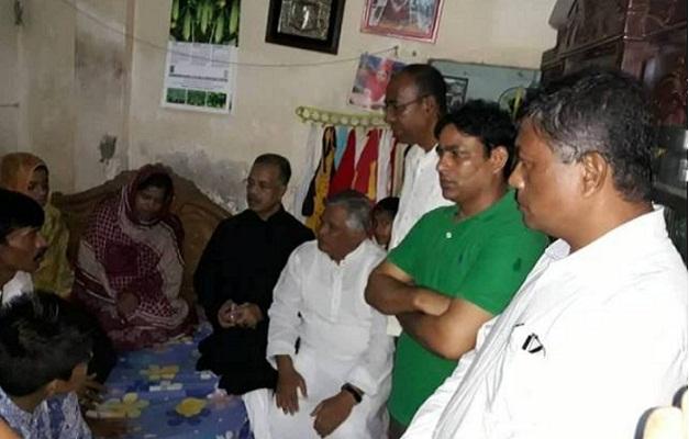 BNP team visits 2 city road crash victims' houses