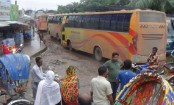 Long-route bus services halted in 6 districts