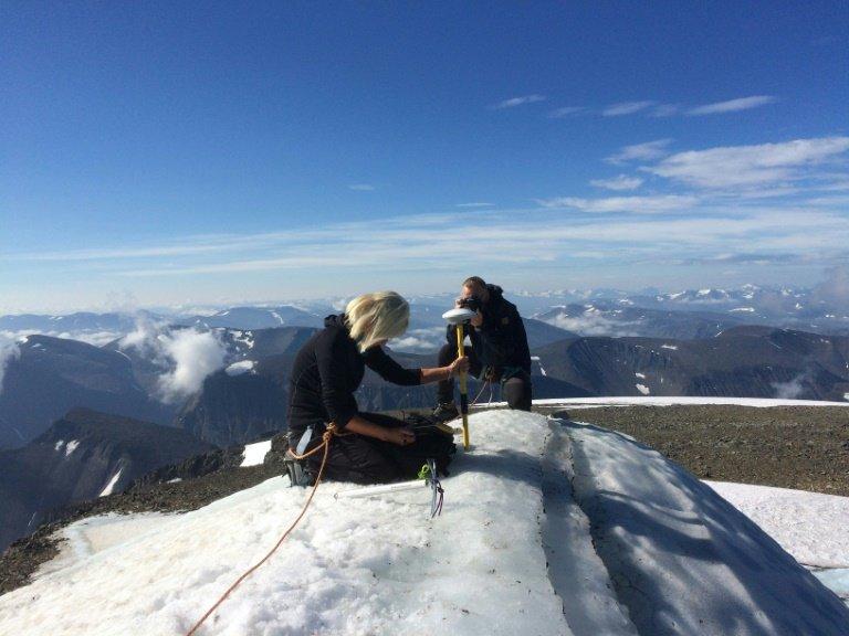 Concern for climate as Sweden's highest peak melts away