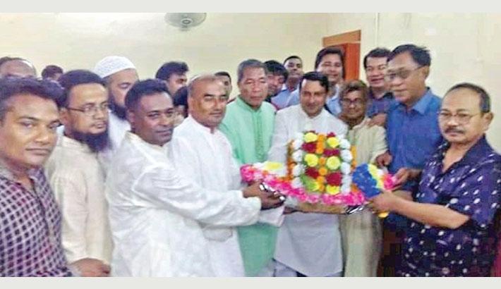 Newly-elected Chairman of Jugyachhola Union Parishad Kyojory Mohajan