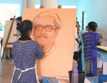 Art camp on Bangabandhu held at Shilpakala Academy