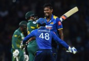 Sri Lanka end losing streak against South Africa in tense clash
