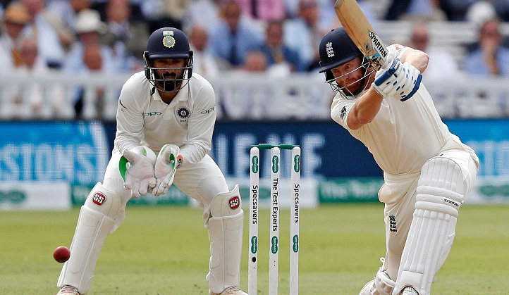 England 230-5 against India in 2nd Test