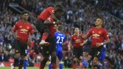 Pogba scores as Man United wins Premier League opener