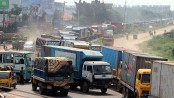 10-km long tailback on Dhaka-Chittagong highway