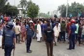 Protest block road as school student dies in Rangpur road crash