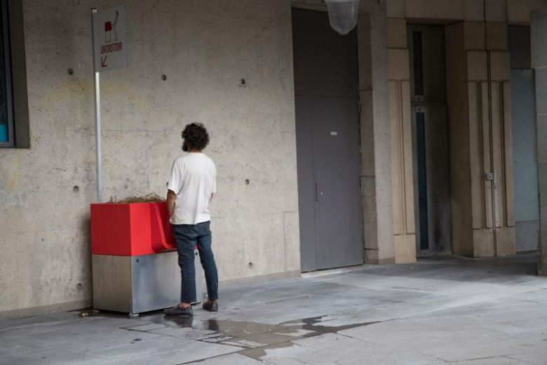 In Paris, eco-friendly cubist urinals spark sniggers and seething