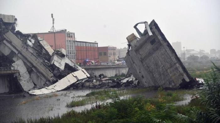 Italy's Genoa motorway bridge collapses 'killing about 30'